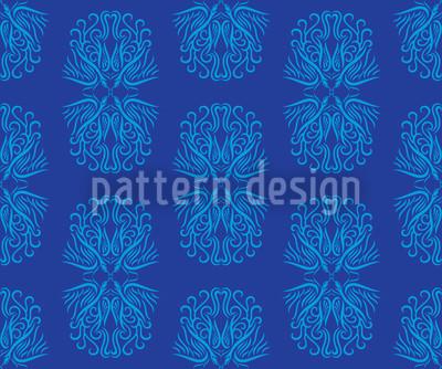 Phoenix In Blue Design Pattern