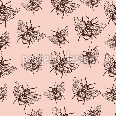 Fliegende Biene Nahtloses Vektormuster