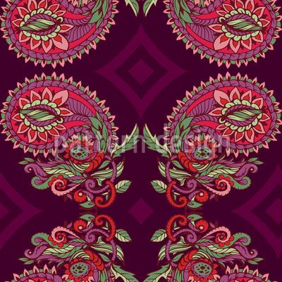 Ranken Paisley Muster Design