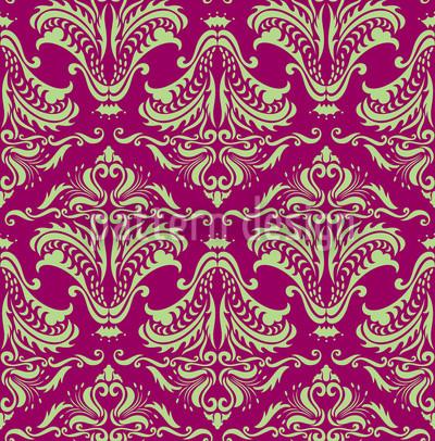 Opulenz Purpur Nahtloses Vektor Muster