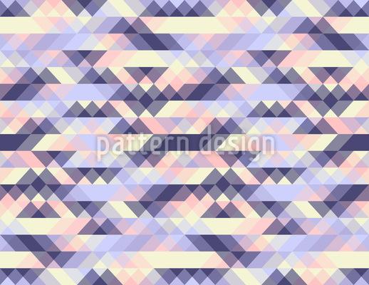 Impressões Triangulares Design de padrão vetorial sem costura