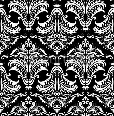 Opulenz Schwarz Vektor Muster