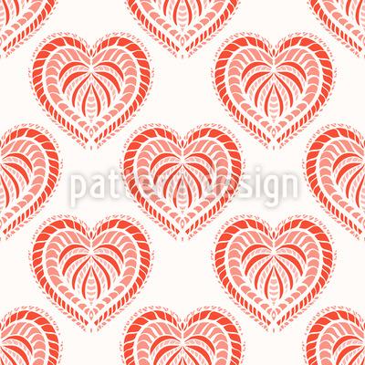 Ofen-Gebackene Herzen Designmuster