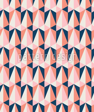 Triangular Y Retro Estampado Vectorial Sin Costura