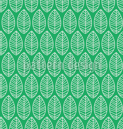 Drop Leaves Seamless Vector Pattern Design