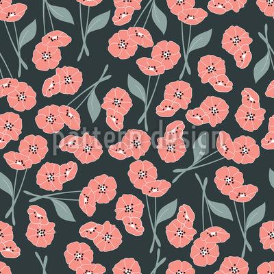 Papavero floreale disegni vettoriali senza cuciture