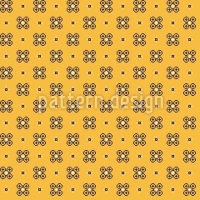 Niedliche pixelige Blumen Vektor Design