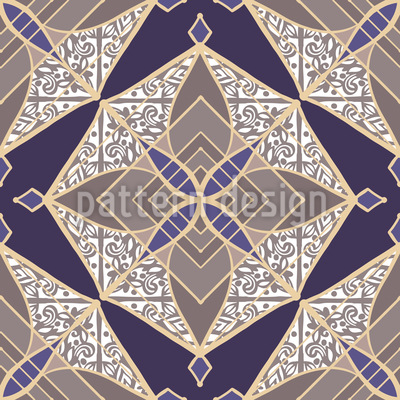 Patchwork Sternen-Mosaik Rapportiertes Design