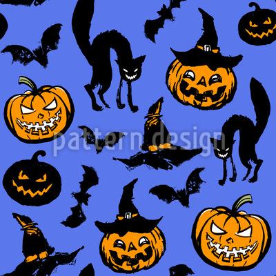 Halloween Scare Seamless Pattern