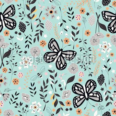 Schmetterling Garten Vektor Muster