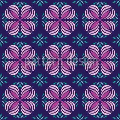 Geofloral Seamless Pattern