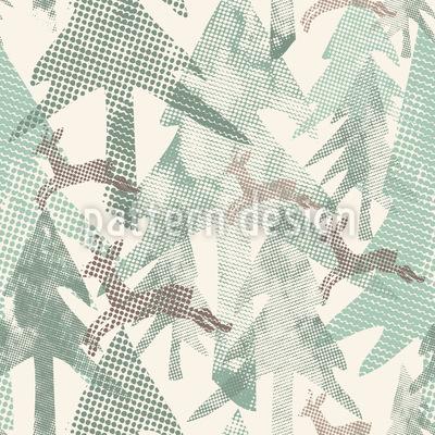Gepunkteter Wald Musterdesign