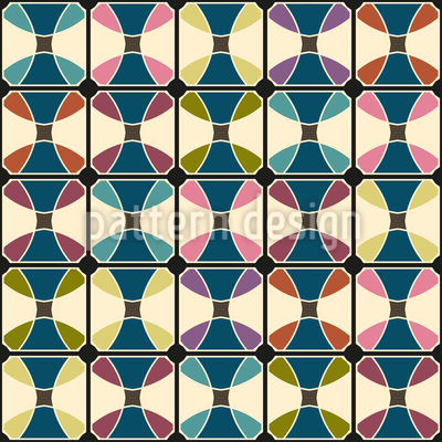 Connected Round Shapes Pattern Design
