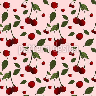 Recogida de cerezas Estampado Vectorial Sin Costura