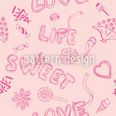 The Sweetness Of Life Seamless Vector Pattern Design