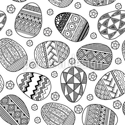 Zentangle Easter Eggs Vector Design
