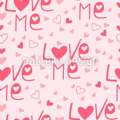 Love Me Pattern Design