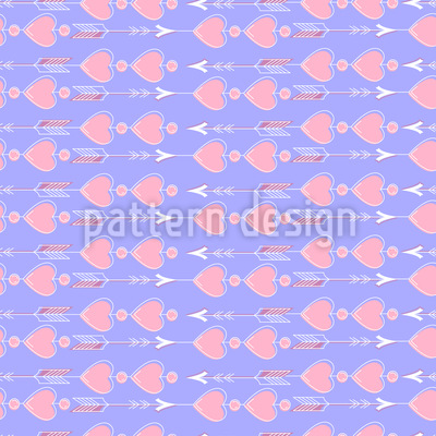 Arrows and Hearts Pattern Design