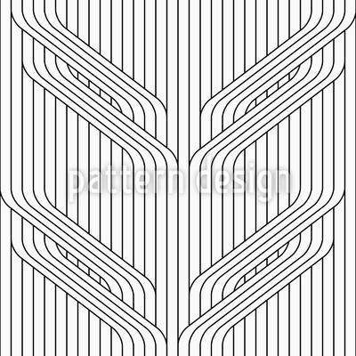 Blatt-Linie Rapportiertes Design