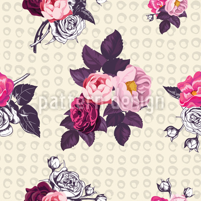 回归的英国玫瑰 无缝矢量模式设计