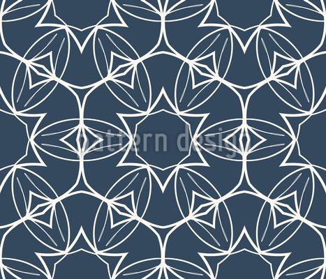 Ornamenti floreali simmetrici disegni vettoriali senza cuciture