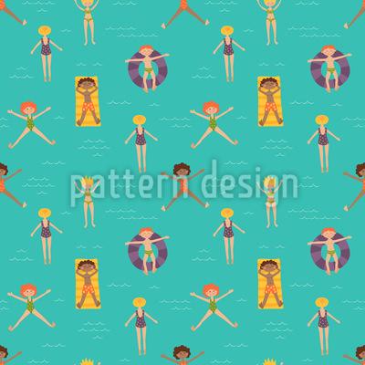 純粋な夏の喜び シームレスなベクトルパターン設計
