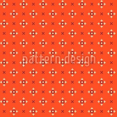 Pixel Kreuz Nahtloses Vektor Muster