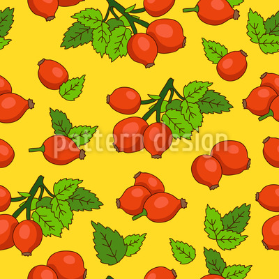 Sweet Rosehips Vector Ornament