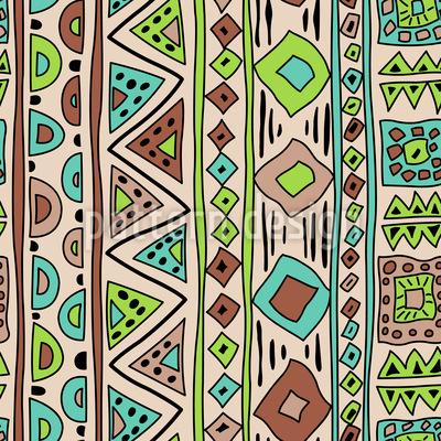 Afrikanische Streifenkunst Nahtloses Vektormuster