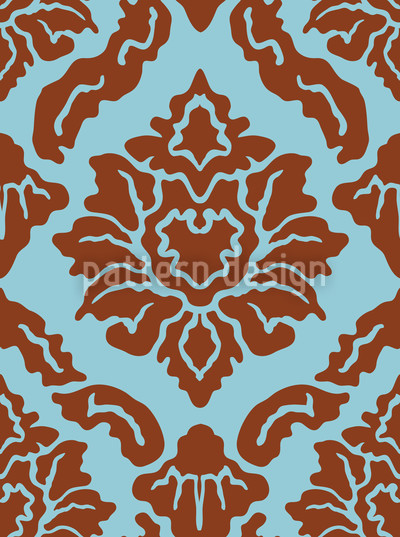 Pop Barock Nahtloses Vektor Muster