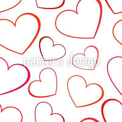 Einfache Liebe Musterdesign