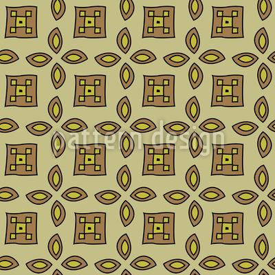 50er Nostalgie Nahtloses Vektor Muster
