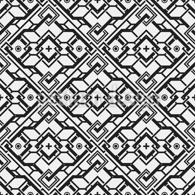 Tempel Muster Design