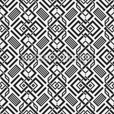 Modernes Riad Musterdesign