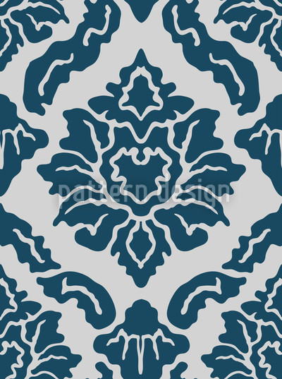 Pop Baroque Blue Vector Design