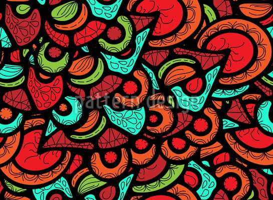 Stücke Aus Verziertem Glas Muster Design