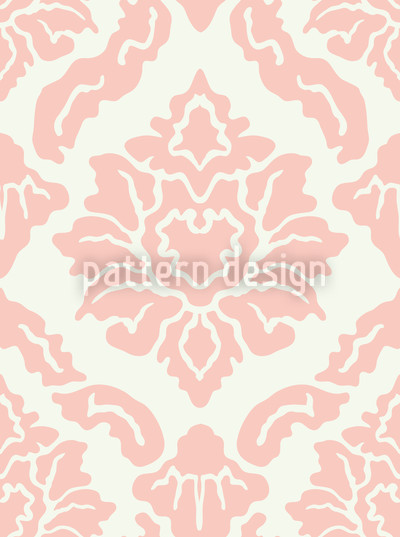 Pop Baroque Rose Repeating Pattern