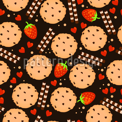 Yummy Cookies Repeat Pattern