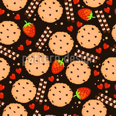 Biscoitos Gostoso Design de padrão vetorial sem costura