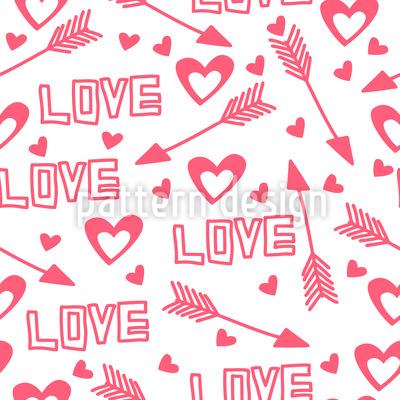 Liebespfeile und Herzen Vektor Ornament