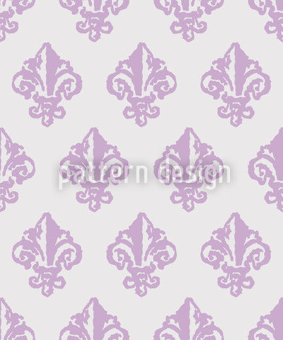 Lady De Winter Style Seamless Vector Pattern Design