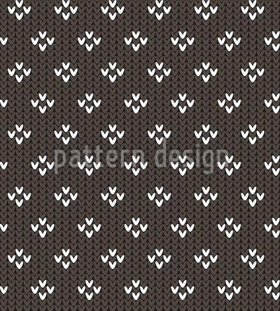 Tricô simples Design de padrão vetorial sem costura