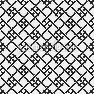 Überlappenden Geometrische Formen Nahtloses Vektormuster