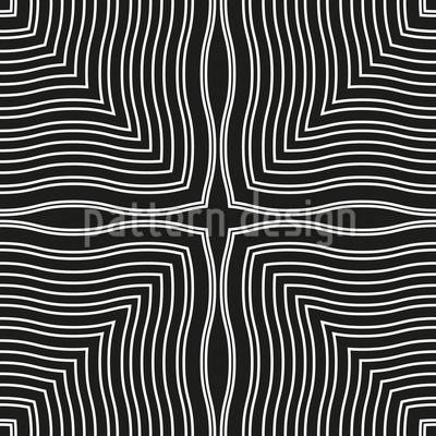 Wellen In Quadraten Vektor Ornament