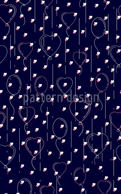 Luftballons und Herzen Vektor Muster