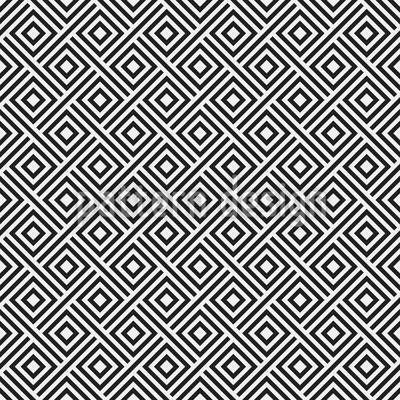 Hypnotic Retro Squares Seamless Vector Pattern Design