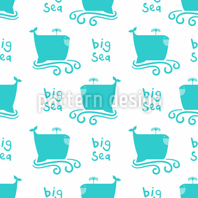 Funny Whale Pattern Design