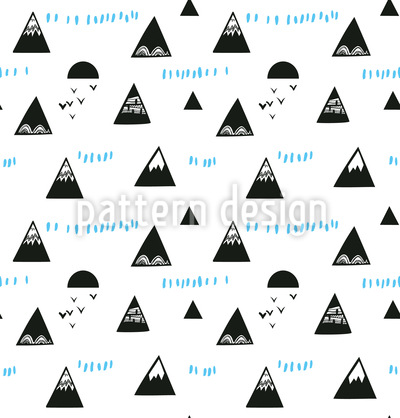 Bergspitzen Nahtloses Vektor Muster