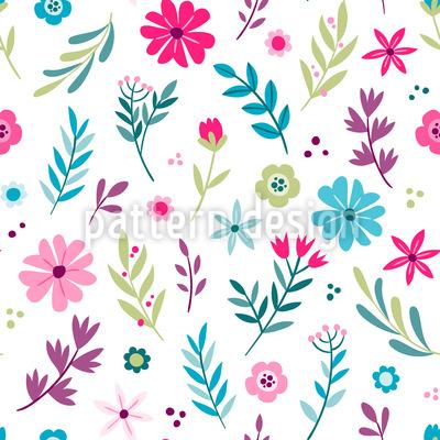Frühlings Blumen Vektor Muster