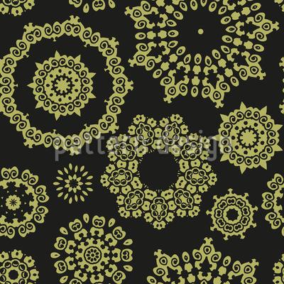Kunstvolle Ornamentale Kreise Vektor Design